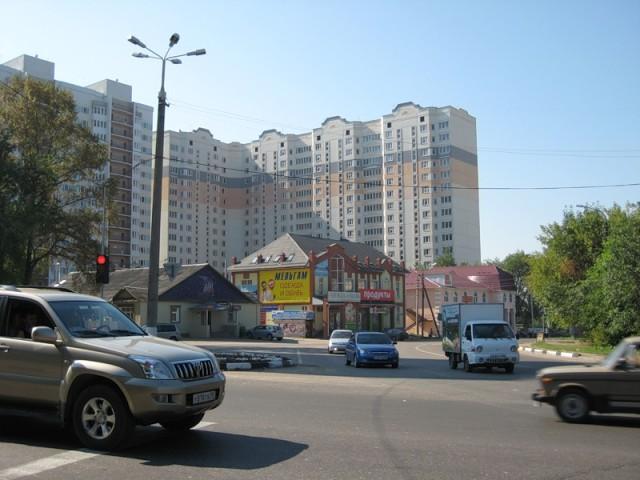 Перекресток Борисовского шоссе и ул. Центральной