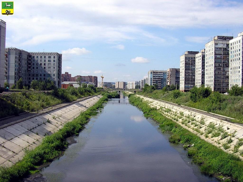 Река Аба в центре города