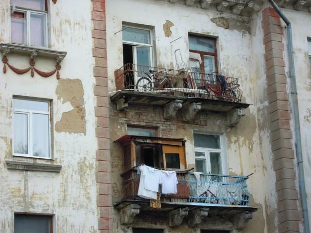 Старый дом на площади Пушкина в городе Орехово -Зуево