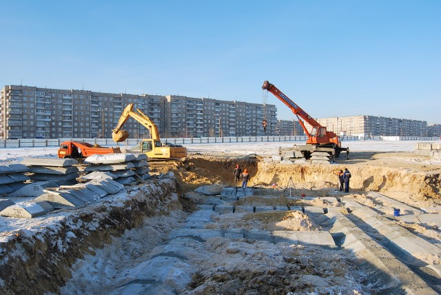 Строительство на Гальяно-Горбуновском жилом массиве