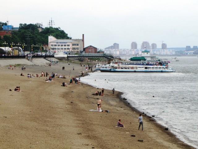 Центральный пляж в Хабаровске