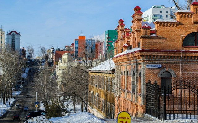 Улица Комсомольская в Хабаровске
