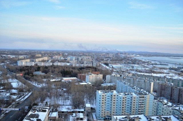 Вид на юг Хабаровска