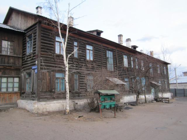 Один из бараков Железнодорожного района