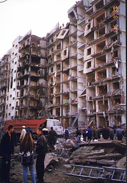 Дом, пострадавший при теракте