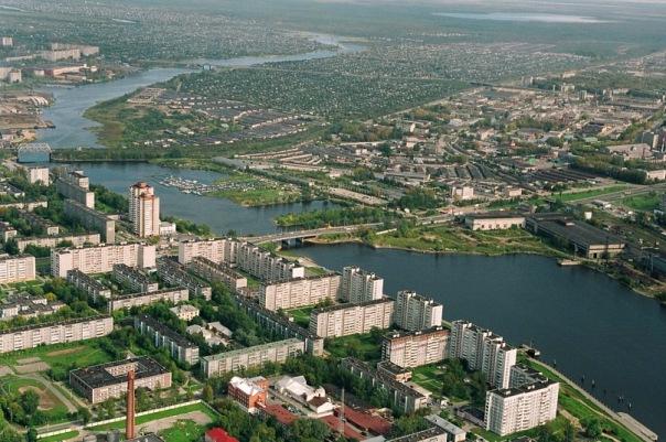 Общий вид на Индустриальный, Зареченский и Северный районы Череповца