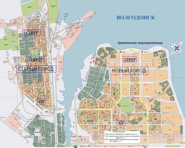 Карта Волгодонска