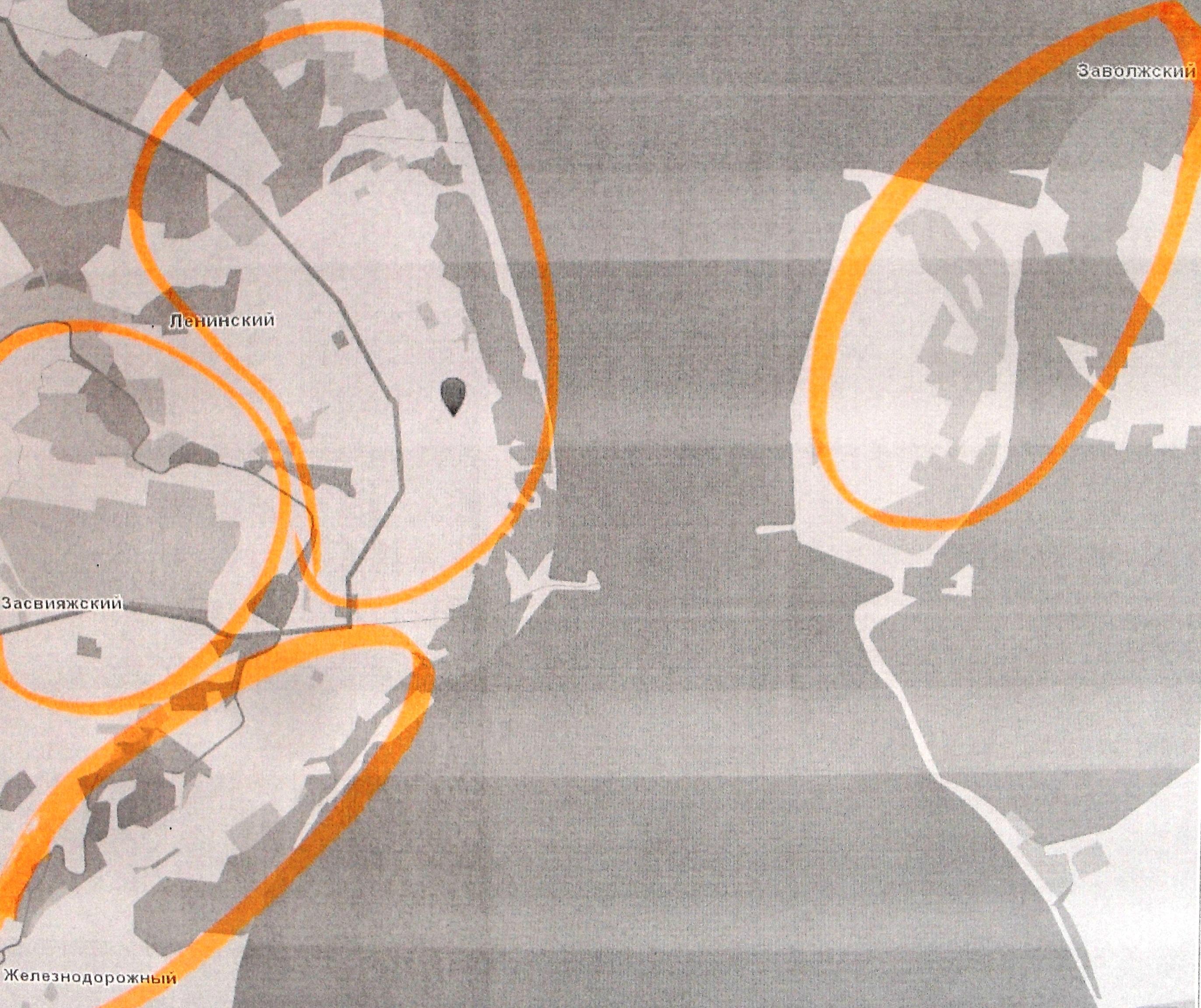 Карта-схема Ульяновска.