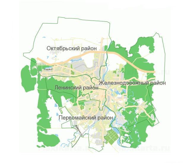 Карта Пензы