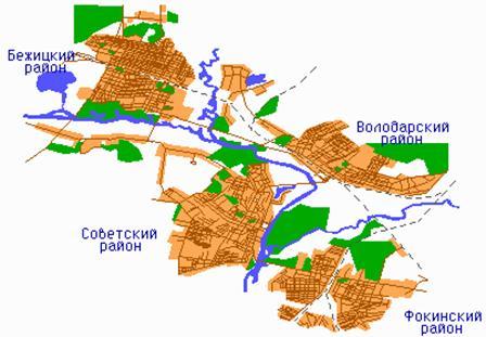 Карта-схема Брянска