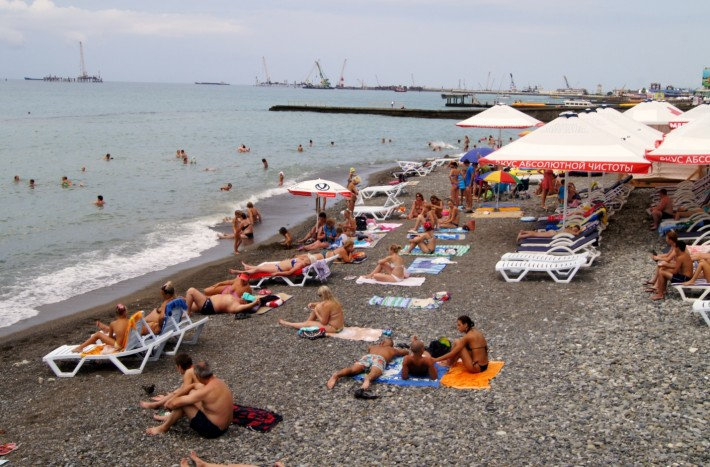 Сочинский пляж