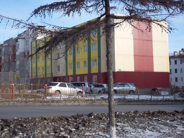 Дома в районе сквера «60 летия Магадана»