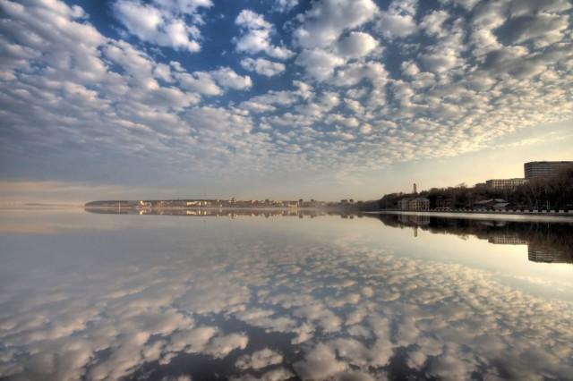 Вид на Ижевский пруд