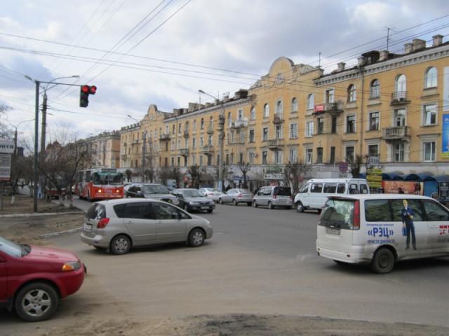 Перекресток в центре города