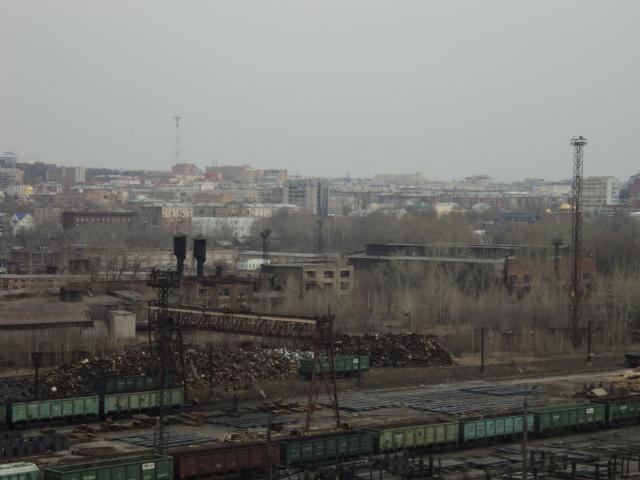 Свалка металлолома в Ленинском районе
