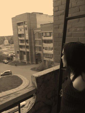 Город Сосновый бор. Вид с нашего балкона