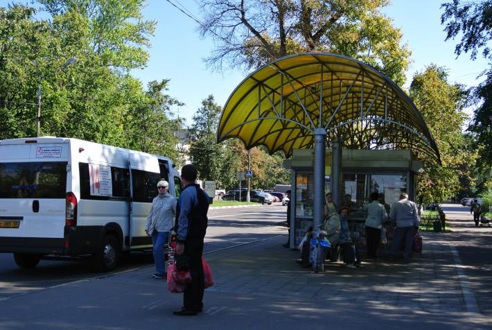 Автобусная остановка в Жуковском