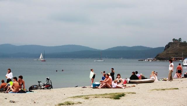 Городской пляж на Тургояке