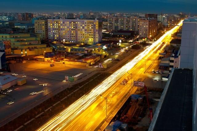 Ночной Якутск