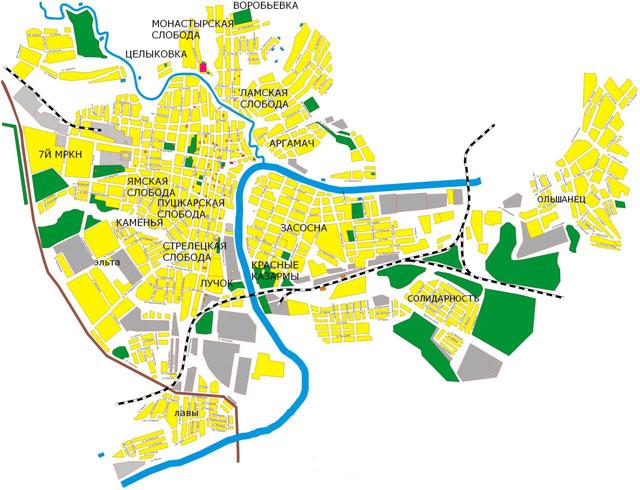 Карта Ельца
