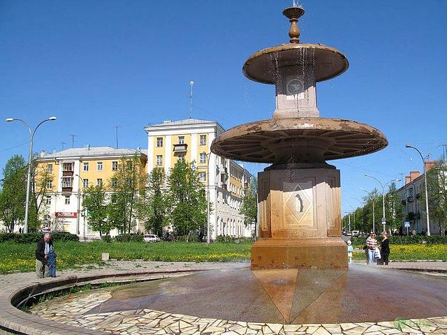 Один из городских фонтанов