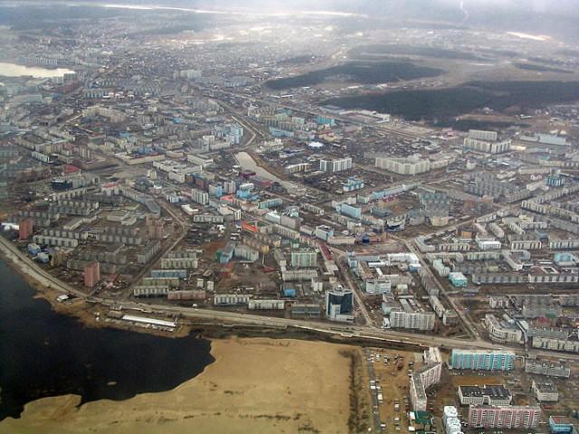 Якутск с высоты птичьего полёта