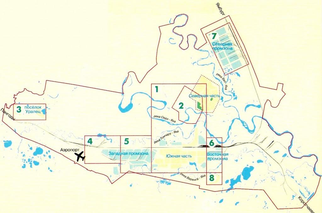 Карта Нового Уренгоя