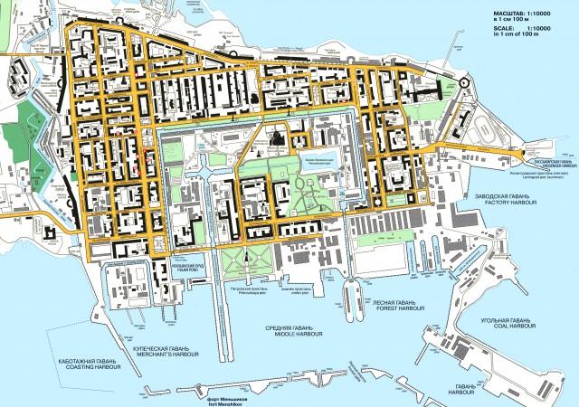 Карта Кронштадта