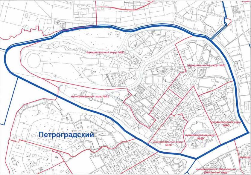 Карта округов