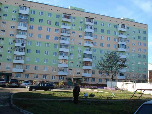 Типичная девятиэтажка в Военном городке