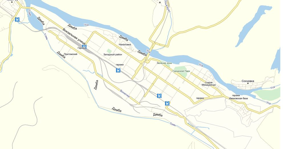 Карта Междуреченска