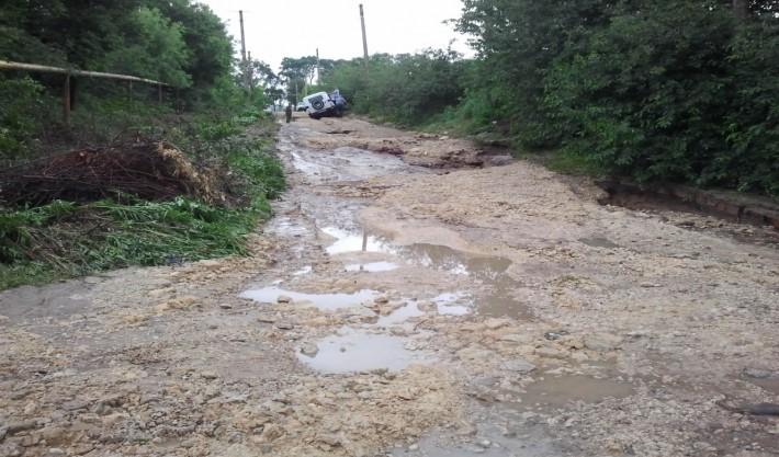 Темрюк. Мкр. Комсомольский после дождя