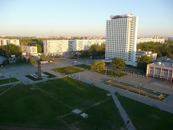 Волжский. Вид на площадь Ленина