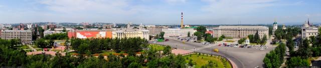 Панорама сквера имени Кирова