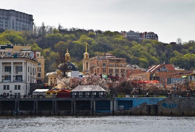 Вид на Киев с Днепра