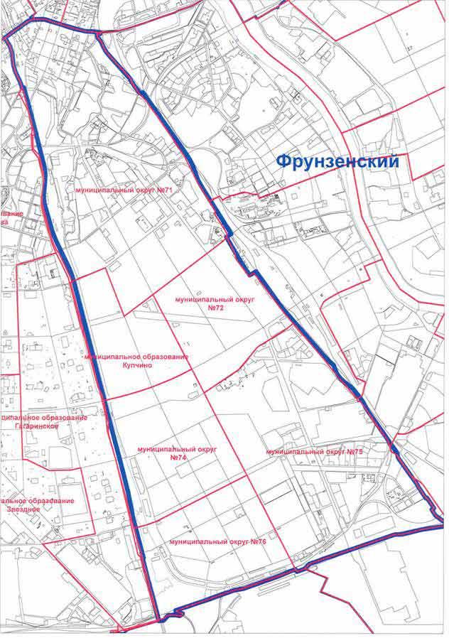 Карта Фрунзенского района