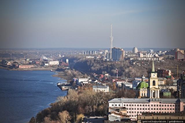"""Вид в сторону железнодорожной станции """"Пермь-1"""""""