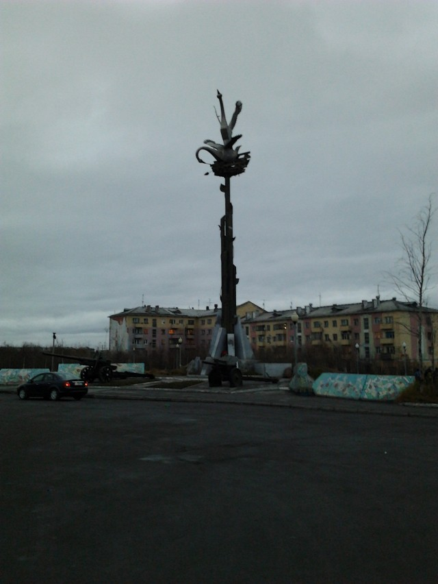 Пл.Победы и её памятник