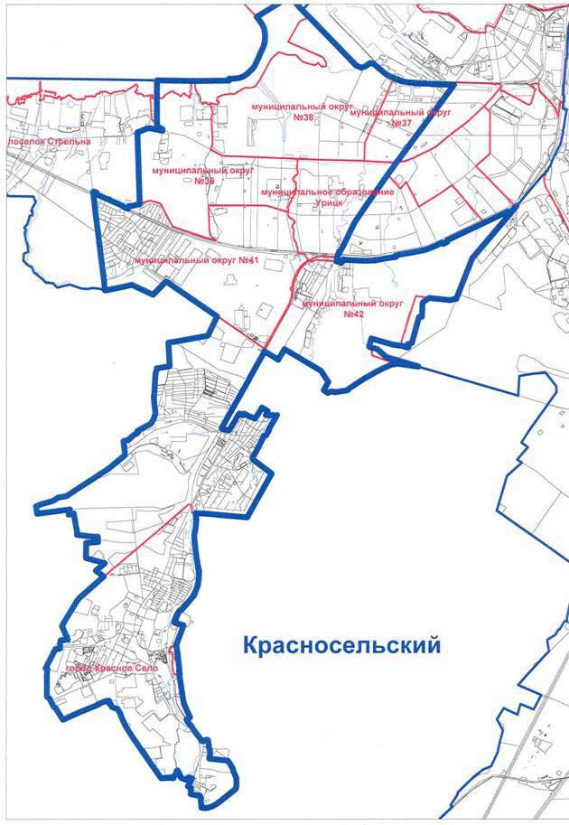 Карта Красносельского района