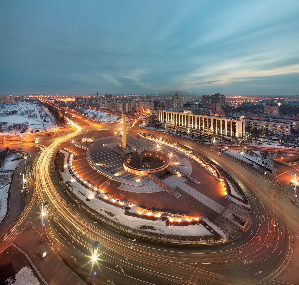Карта города Санкт-Петербург, Россия, ближайшие города