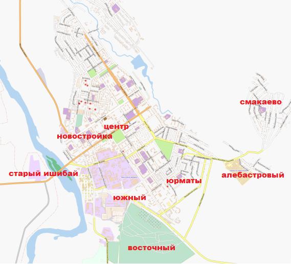 Карта Ишимбая