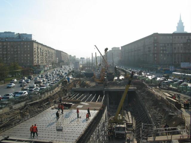 Ленинградка на «вечной» реконструкции