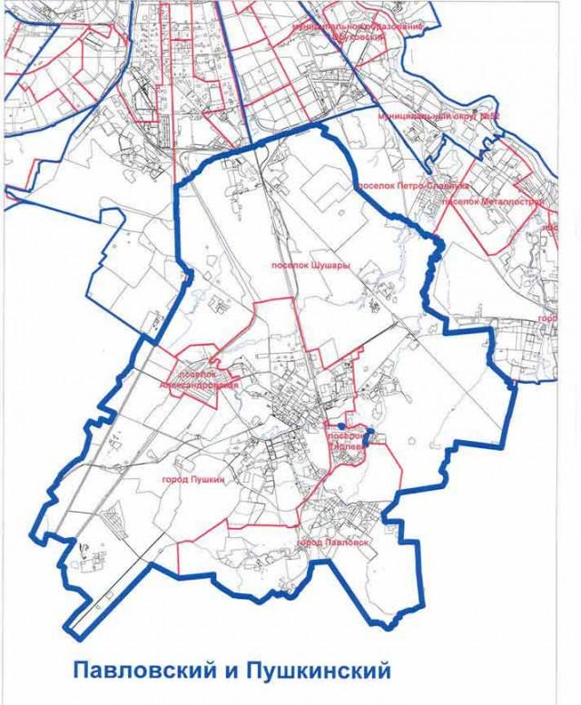 Карта муниципальных округов