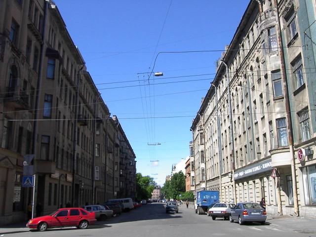 Бородинская улица. Вид с Загородного проспекта.
