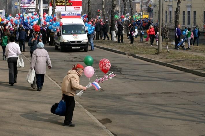 Первомайская демонстрация в Ангарске
