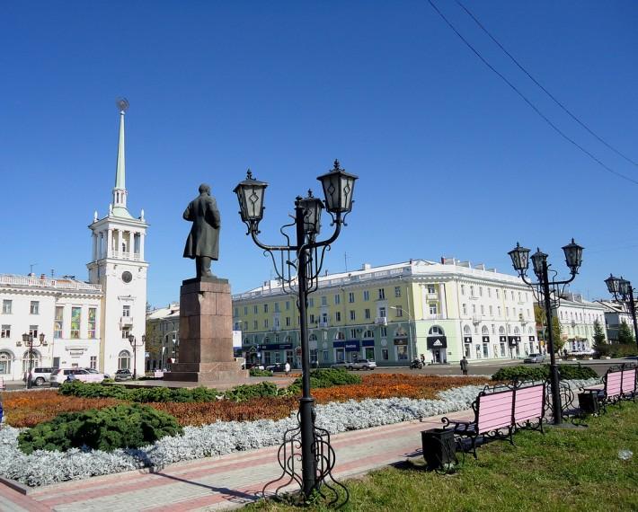 Центр Ангарска. Площадь Ленина