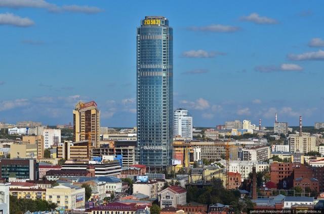 Бизнес-центр Высоцкий, самый высокий небоскреб в регионах России