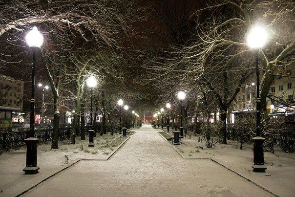 Проспект Ленина зимой