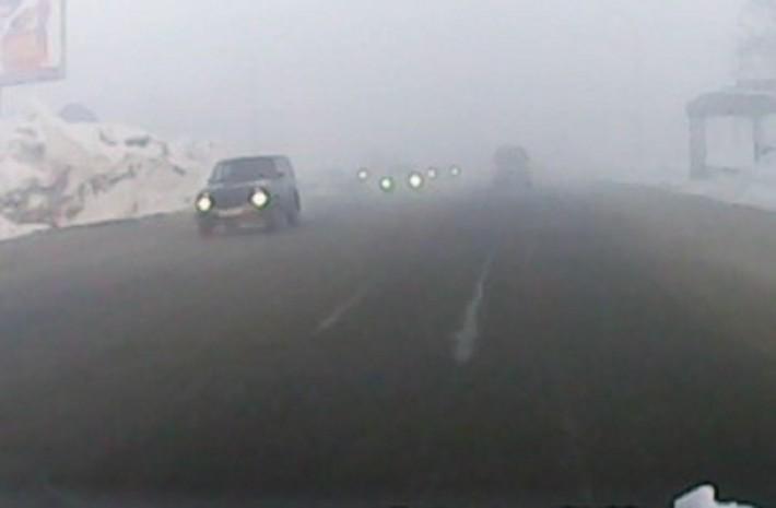 Смог в Южно-Сахалинске, январь 2014
