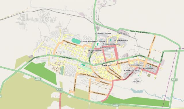 Карта Элисты